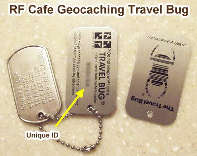Travel Bug for RF Cafe Geocaching - RF Cafe