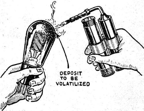 blowtorching tubes to life  january 1933 radio-craft