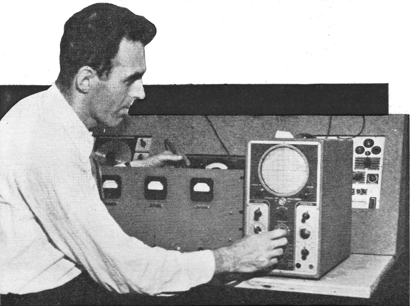 Radio 1 News: The Oscilloscope Applied To Transmitter Checking, October