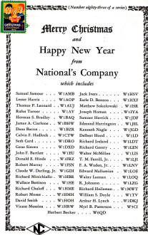 National Company Christmas and New Year Greeting, January ...