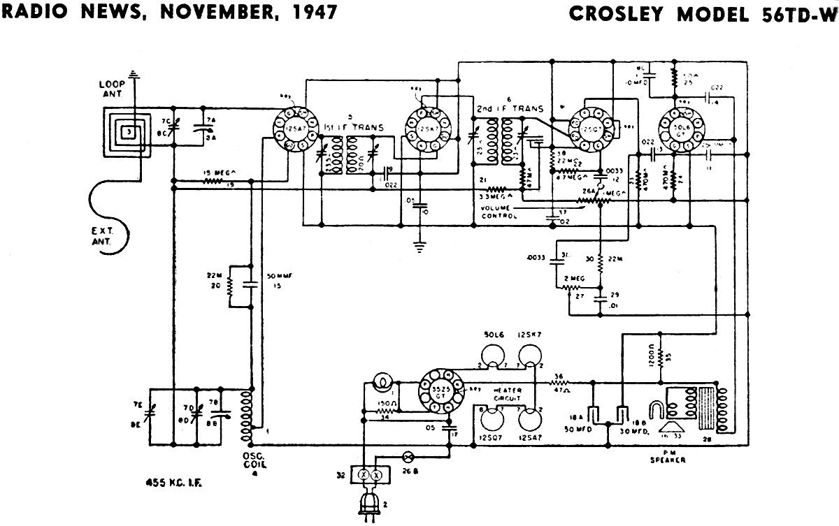 bmw car sedan fuse diagrams crosley model 56td w schematic  amp  parts list  november 1947  crosley model 56td w schematic  amp  parts list  november 1947
